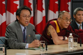 At Press Conference in Parliament Hill (Photo: Thubten Samdup)